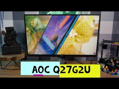 AOC Q27G2U   Ein Mittelklasse Monitor mit guter Ausstattung   Review 4K