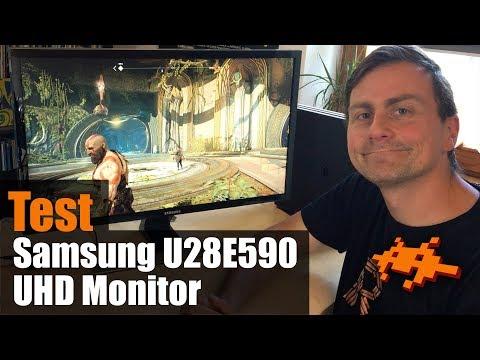 Test Samsung U28E590D UHD Monitor [Unboxing, Check, deutsch]