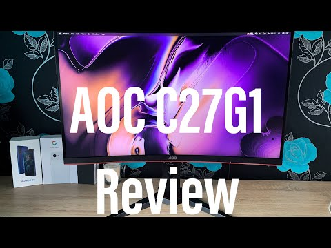 """AOC C27G1 27"""" 144Hz Curved Gaming Monitor Review"""