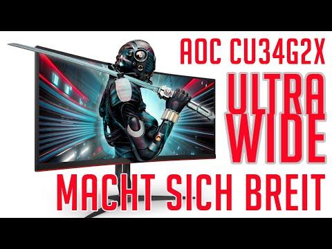 AOC CU34G2X Ultra-Wide - Ausgepackt und Ausprobiert DE/GER