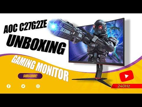 AOC C27G2ZE Gaming Monitor Unboxing