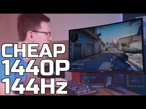 THE BEST CHEAP 1440p 144Hz GAMING MONITOR - AOC CQ27G2U Review - TechteamGB