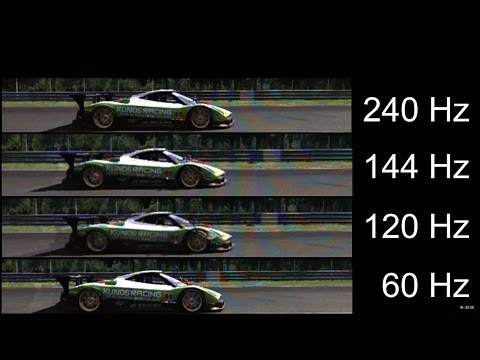 [Slow motion] 240Hz vs 144Hz vs 120Hz vs 60Hz - Monitor refresh rates