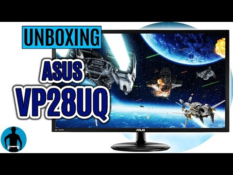 ASUS VP28UQ 4K Gaming Monitor Unboxing deutsch