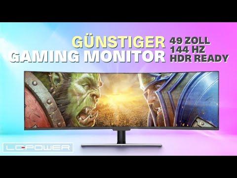 49 Zoll 144Hz Gaming Monitor zu einem günstigen Preis? LC-Power LC-M49-DFHD-144-C I Review Input Lag