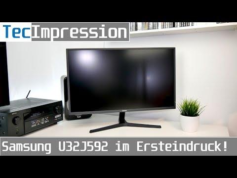 """Samsung U32J592 - 32"""" Zoll 4K-Monitor   erster Eindruck   TecImpression   deutsch   4K"""