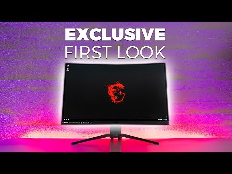 EXCLUSIVE FIRST LOOK - MSI Optix MAG271CQR 1440p 144Hz Curved Gaming Monitor Review