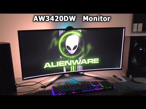 Alienware AW3420DW Gaming MONITOR REVIEW Setup DELL best curved ultrawide LG IPS back light bleed